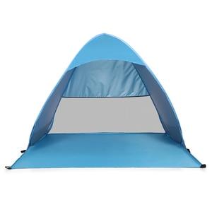 Image 3 - Lixada otomatik anında Pop Up plaj çadırı hafif açık UV koruma kamp balıkçı çadırı Cabana güneş barınak