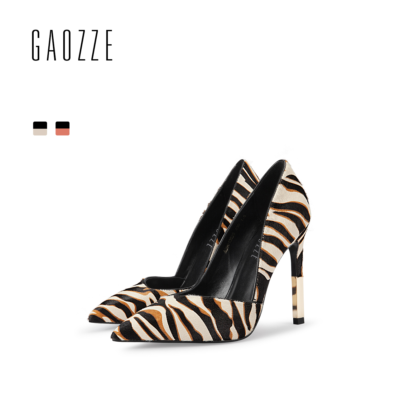 GAOZZE Pointed Toe Fashion Leopard Social Party High Heels Shoes Luxury Cattle Hair Ladies Pumps Shoes 2018 Spring New new spring summer women pumps fashion pointed toe high heels shoes woman party wedding ladies shoes leopard pu leather