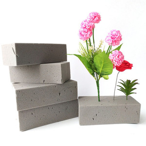 1pc Dry Flower Holder Foam Artificial Flower Mud Handle Bridal Floral Arranging Design DIY Crafts Wedding Home Decor