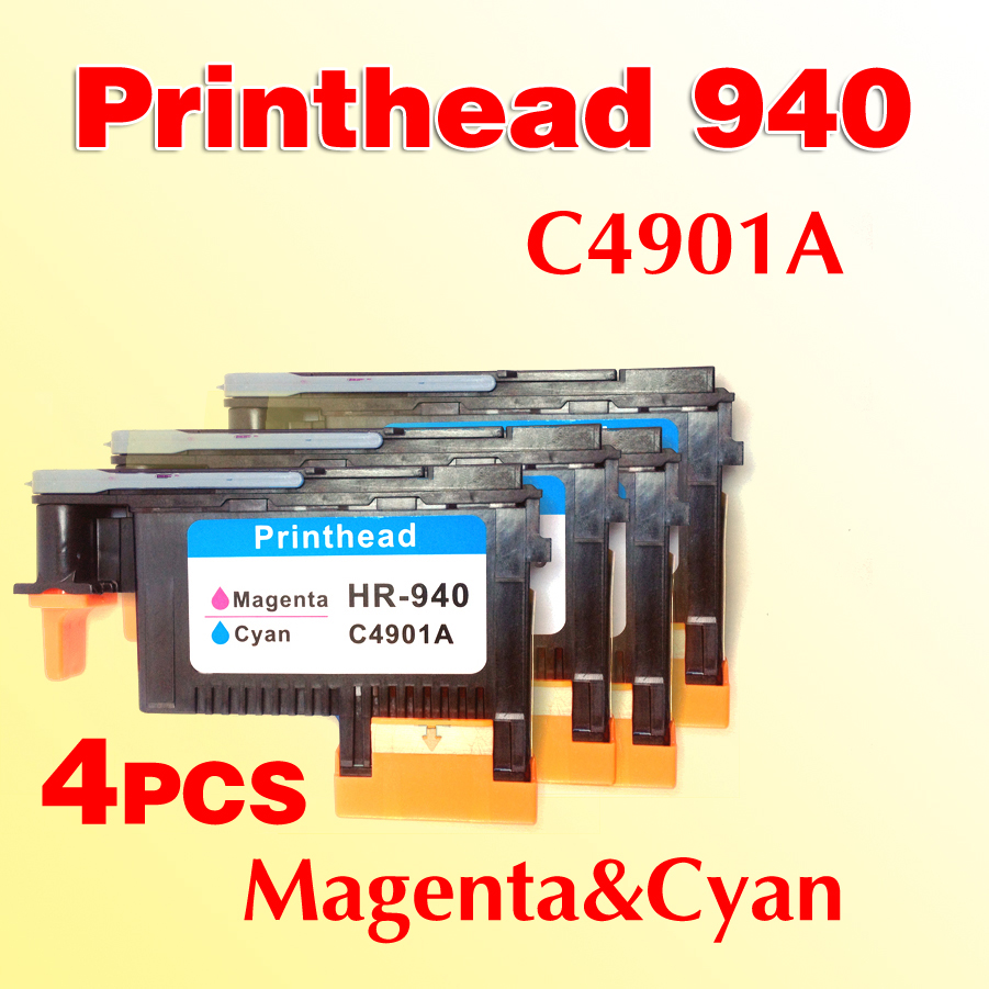 4x 940 Printhead C4901A Print head compatible For HP940 OfficeJet Pro 8000  8500w 8500A 8500