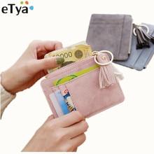 eTya Fashion Slim Women Wallet and Purse Short Bag Small Lea