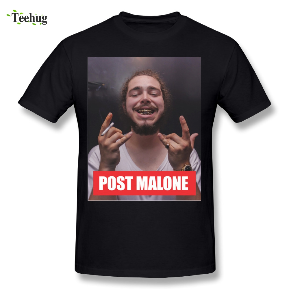 2018 New Arrival Post Malone T Shirts Quality Graphic Print Round Collar T-shirt