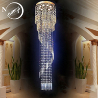 Crystal modern Nordic traditional loft chandelier lamp with GU10 9 lights for bedroom living room hotel office restaurant lobby