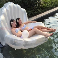 Adults Giant Pool Float Pearl Scallops Inflatable Shell Floating Mattress Lounger Pearl Ball Floating Beach Chair 5pcs