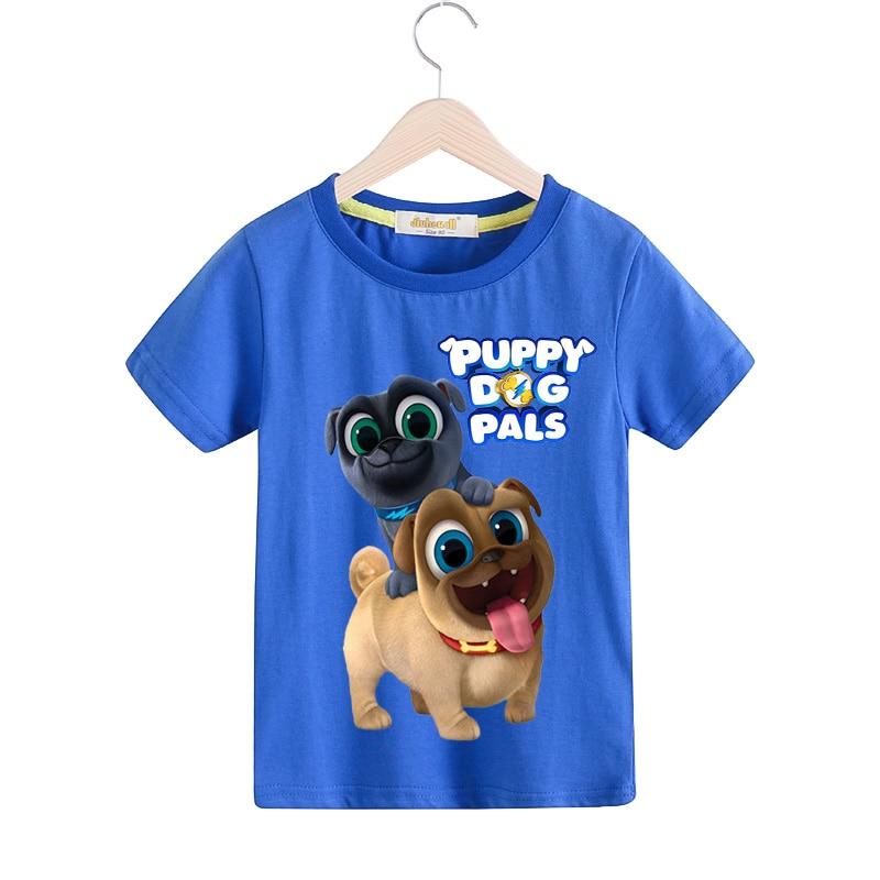 Children Summer Casual Cartoon Puppy Dog Pals T Shirt Clothing For