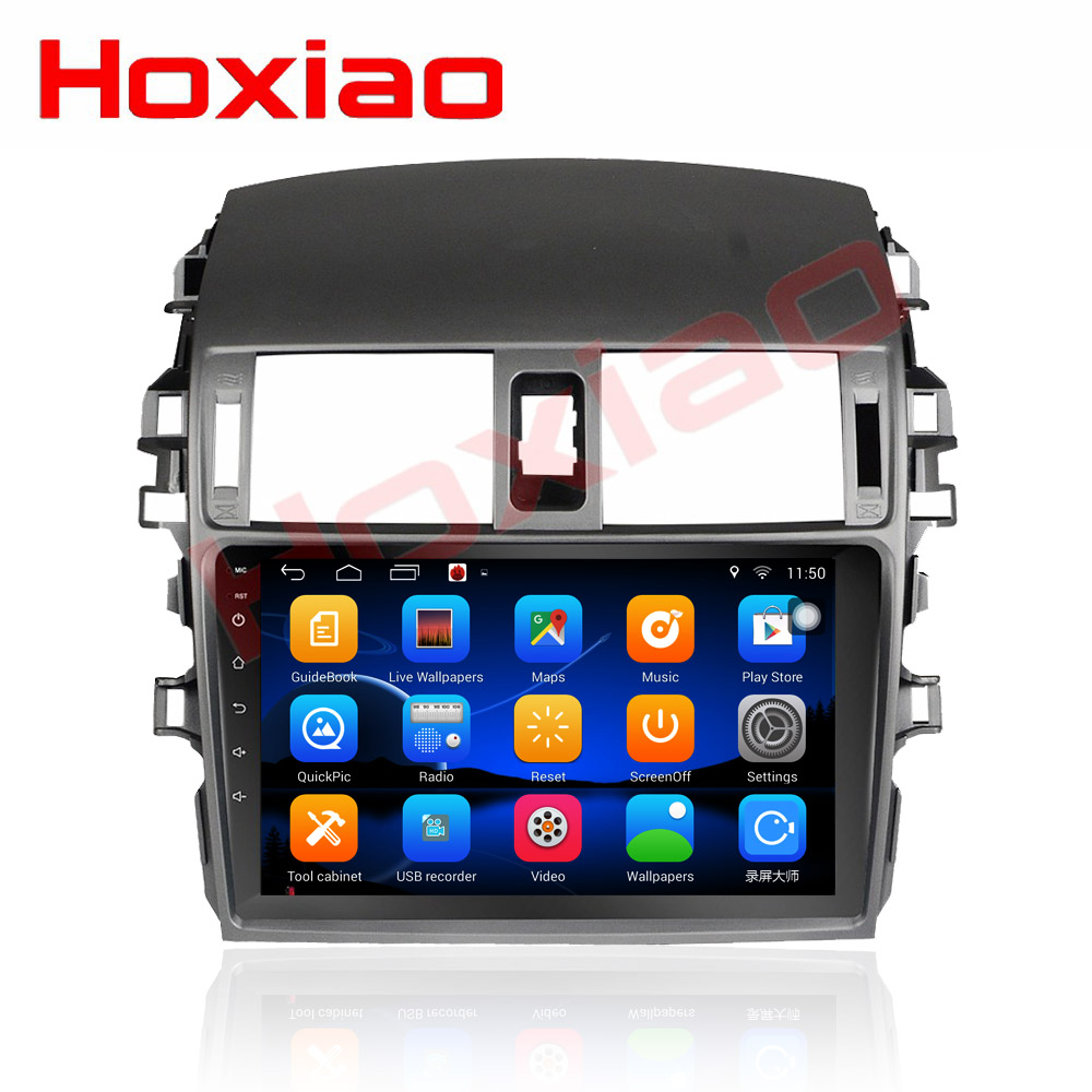 2din Car android For Toyota Corolla 2009 2010 2011 2012 2013 9 inch 1024 600 screen