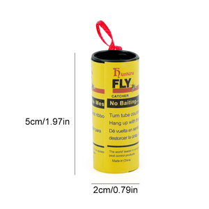 Image 5 - 4 לחמניות לטוס דבק נייר הדברה זבוב רוצח חרקים באג מלכודת רצועת סרט דביק Fies קיץ כלים