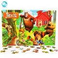 120 шт. Мультфильм Деревянные головоломки образования игрушки для детей дети детские монтессори деревянные игрушки
