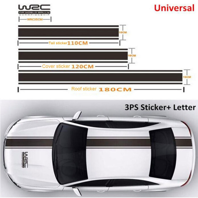 Car Body Decal Racing Rally Sporty Sticker For Hood Roof Rear Trunk Stripe Car Covers Vinyl Racing Sports Decal Head Car Sticker