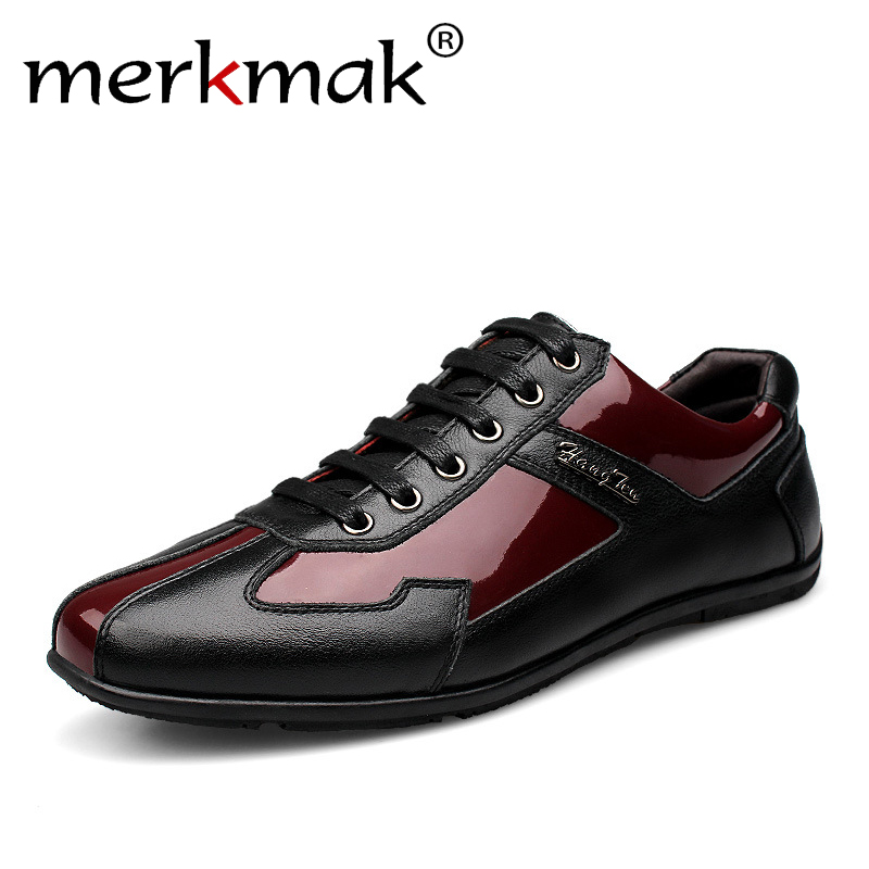 Luxury Brand Fashion Genuine Leather Men Shoes 2018 New Leather Men Casual Shoes High Quality Plus Size 36-48 Flat Shoes For Men slip on men casual shoes male sandal new fashion genuine leather low heel high quality brand korean style thick bottom plus size