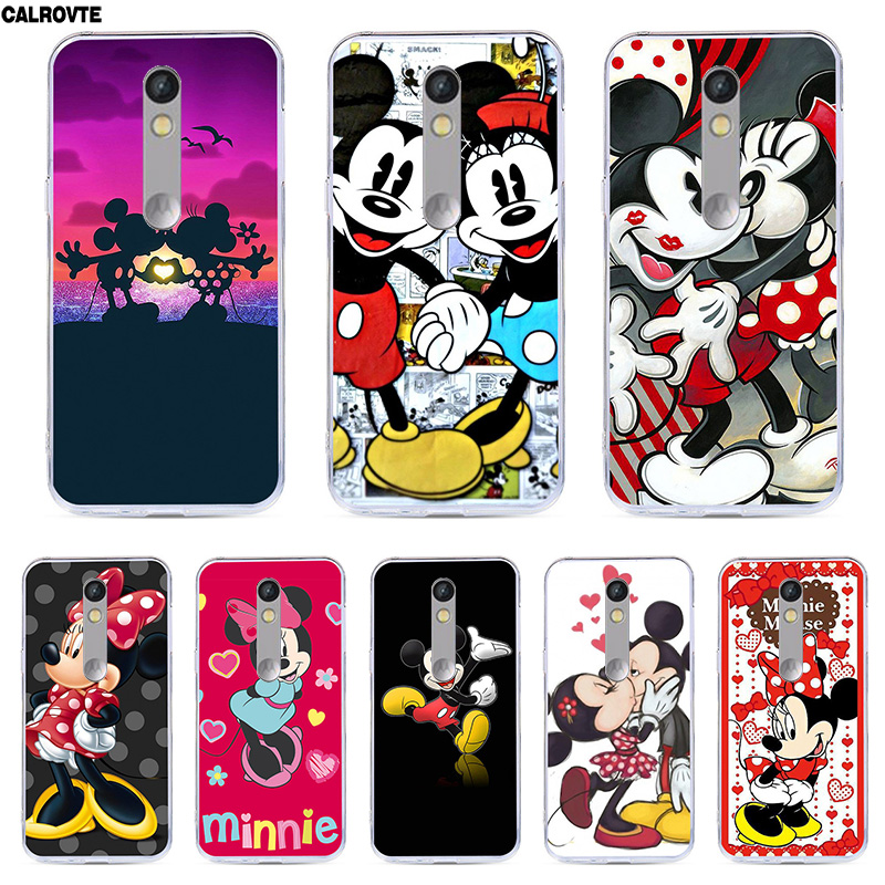 CALROVTE Phone Case For Motorola Moto X Force/XT1585/XT1581/Droid Turbo 2 Silicon Cover Back Minne Mickey Coque Marble Soft TPU image