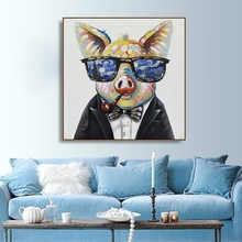 Watercolor Pig Animals Canvas Painting Calligraphy Poster Prints Living Room Wall Decor Art Home Decoration Picture
