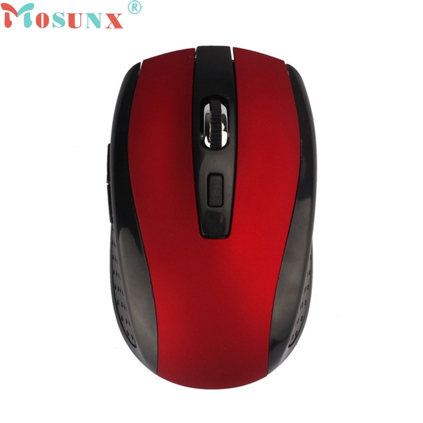 mosunx Mecall Tech Adjustable 1600DPI 2.4G Optical Wireless Mouse Mice For Laptop PC