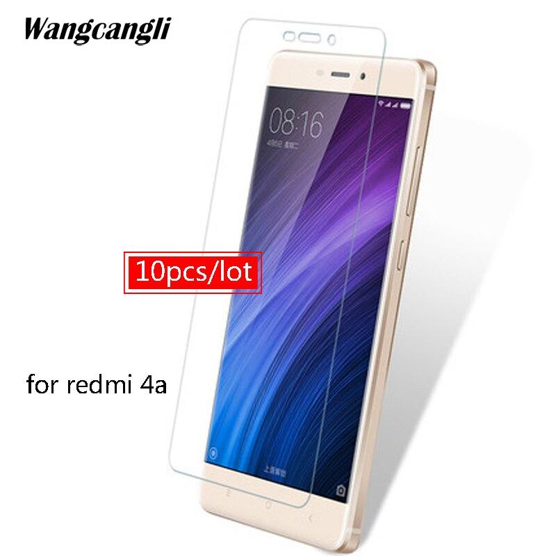 10pcs/lot Tempered glass For Xiaomi Redmi 4A glass protective glass on for xiaomi redmi 5 plus 4 note 4x 5a screen protector