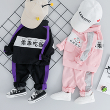2019 Autumn New Toddler Boys Girls Clothes Set Infant Kids Clothing Suit Coat +Pants Baby Children Costume Suit цена в Москве и Питере