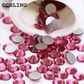 CCBLING Rose ss3-ss30 Nail Rhinestones Flat Back Non Hotfix Glitter Nail Stones,DIY 3d Nail Phones Decorations Supplies