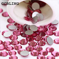 CCBLING Rose ss3-ss30 Prego Strass Apartamento de Volta Não Hotfix Glitter Pedras Prego, 3d DIY Nail Telefones Decorações Suprimentos