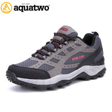 New Arrival 2016 New Brand AQUA TWO Zapatos Hombre Outdoor Walking Leather Shoes Men Winter US6.5-11.5# Trekking Shoes Men