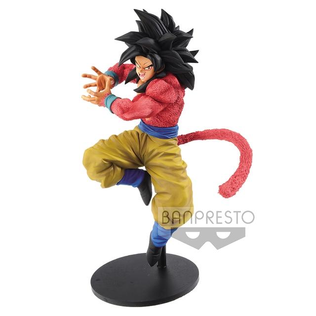 Tronzo Original Banpresto Action Figure Goku De Dragon Ball GT SSJ4 10 Kamehameha PVC Modelo Figura Boneca Brinquedos Figuras Super Saiyan
