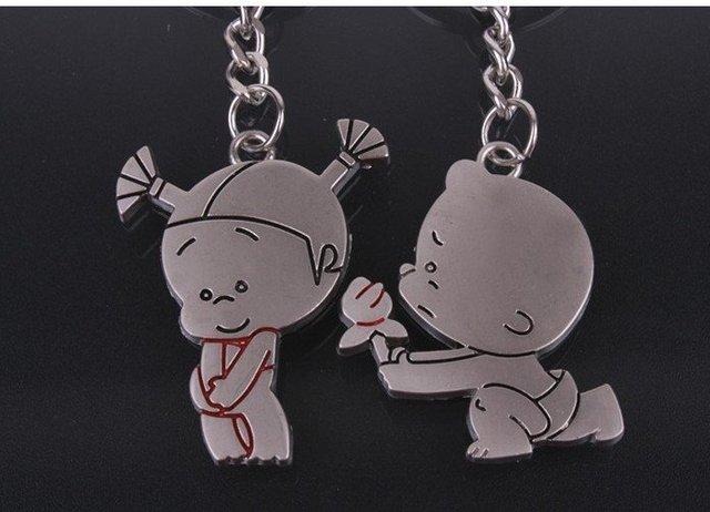 Fashion Couple Key Chain Key Pendant, Key Ring Romantic  Lover Keychain Girl Friend Gift