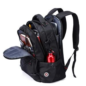 Image 2 - Anti Theft Oxford Business Backpack Men External Charging USB Function Laptop Backpack Swiss Waterproof Travel bag 17 inch women