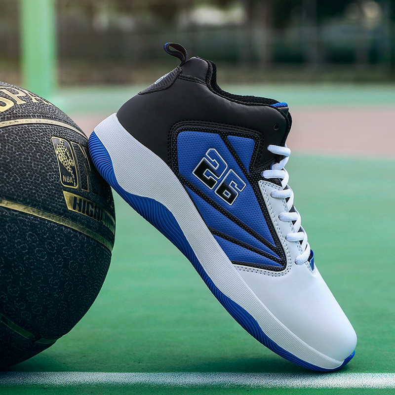 Boys School Basketball Sports Shoes Non-slip Sports Training Shoes Basketball Breathable Men Professional Basketball Boots