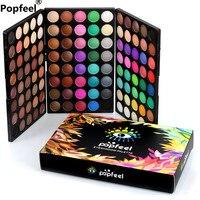Thương hiệu popfeel 120 màu kết hợp gói hộp bột bóng mắt palette matte mắt beauty eyeshadow pallete trang điểm maquiagem