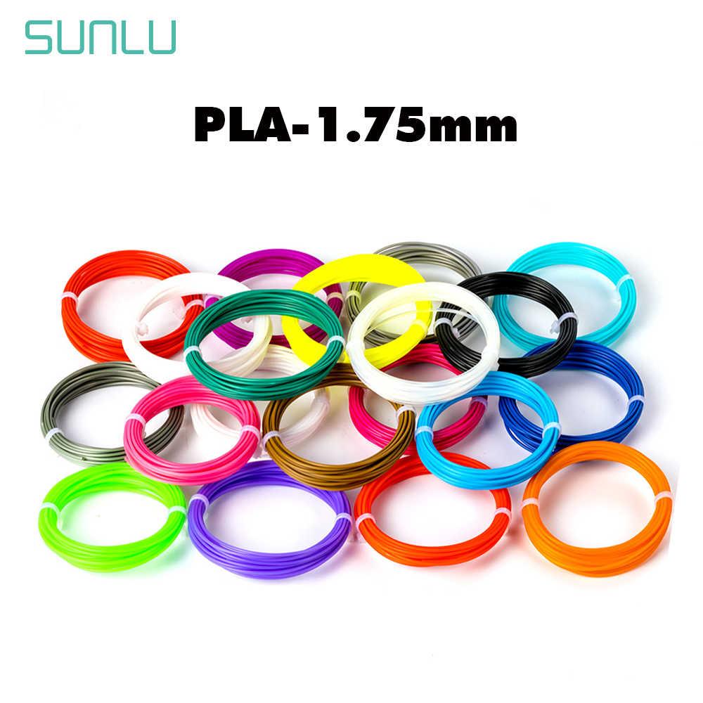 Filamento do pla de sunlu 1.75 para a tolerância material de desenho da pena da impressão 3d +/-pla plástico do filamento da impressão de 0.02mm 3d