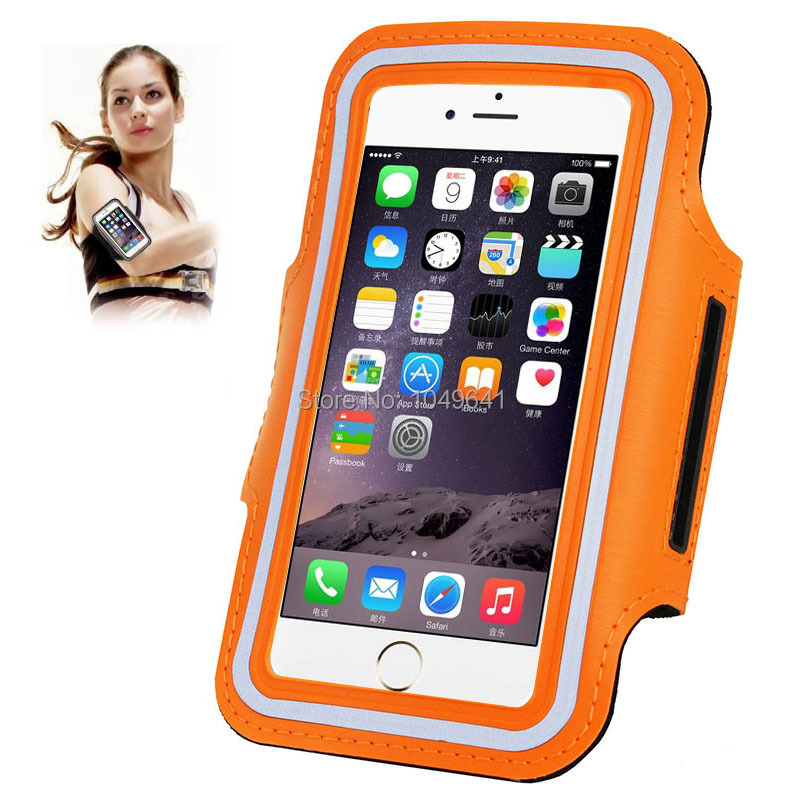 KIP6-1322O_1_Sport Armband Case with Earphone Hole & Key Pocket for iPhone 6 & 6S  HUAWEI Y3 II  ZTE Blade GF3  and Less than 4.7 inch Mobile Phone