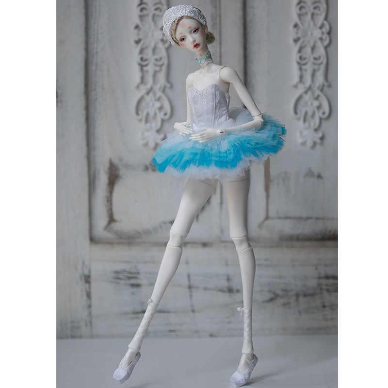 Новое поступление шарнирная Кукла SD 1/4 Белый лебедь 48,5 см девушка стройная тело свободный глаз шары Модный магазин luodoll