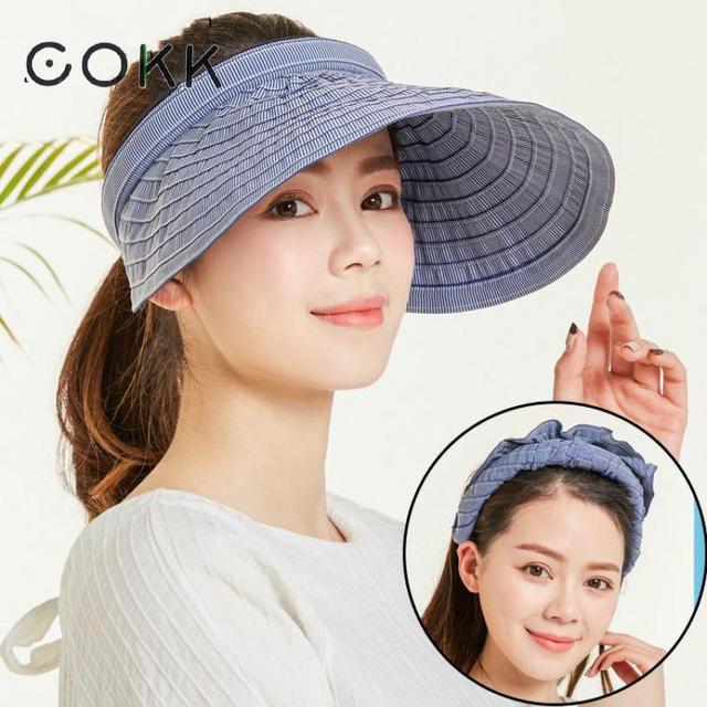 COKK Chapeau Femme sombreros para las mujeres casquillo del visera de sol  playa sombrero damas sombrero 8cf1330e963
