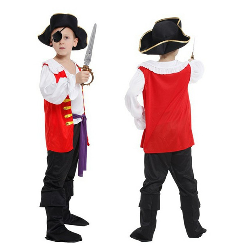 Disfraces kids Children Boys Halloween Carnival Pirate Cosplay Movie Anime Fantasia Party Stage Performances Costume