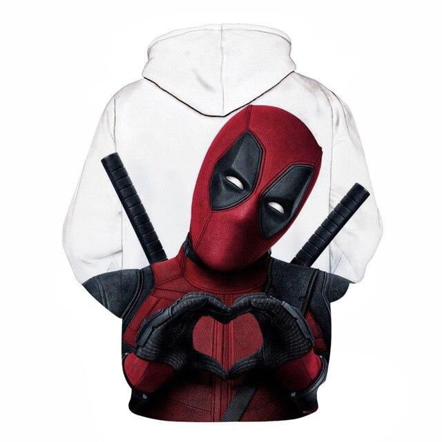deadpool 2019 hoodie costume hood fashion plus size hoddie top for men women/male Men's Sweatshirts Hip Hop Sportswear 1
