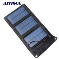AIYIMA Portable Foldable 5W Solar Charger Powerport Sun Power Panel Charge Power bank Charging Board for Huawei Smaung iPhone
