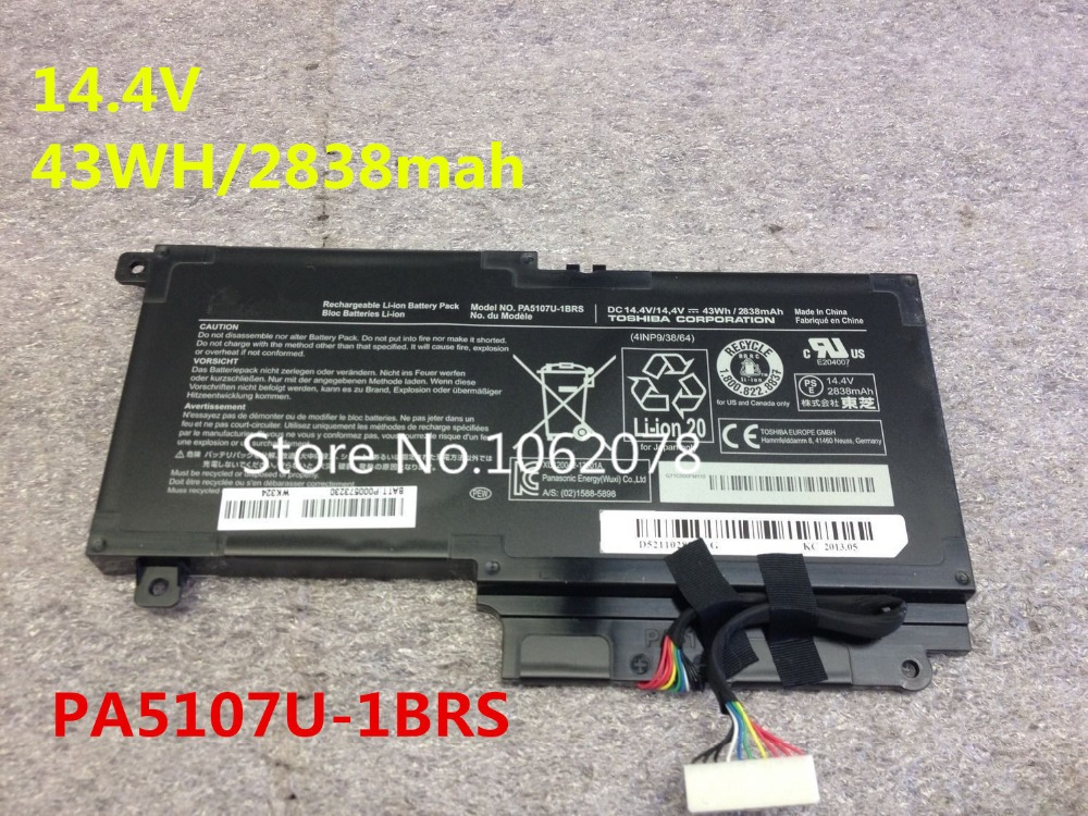 PA5107U-1BRS Genuine Original Laptop Battery For Toshiba L45 L45D L50 L55 L55D L55t P50 P55 S55 P000573230 14.4V 2838mah