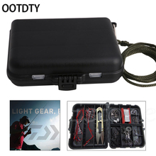 OOTDTY Waterproof Plastic 16 Compartments Fishing Lure Bait Tackle Storage Box Bag Case