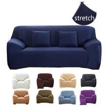 Funda de sofá elástica para sala de estar funda de sofá 1/2/3/4 plazas esquina sofá cubiertas de algodón baratas copridivano