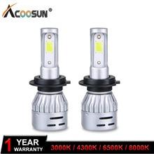 LED 4300K 3000K LED Fog font b Lamp b font LED H7 Car Bulb 6500K 8000K