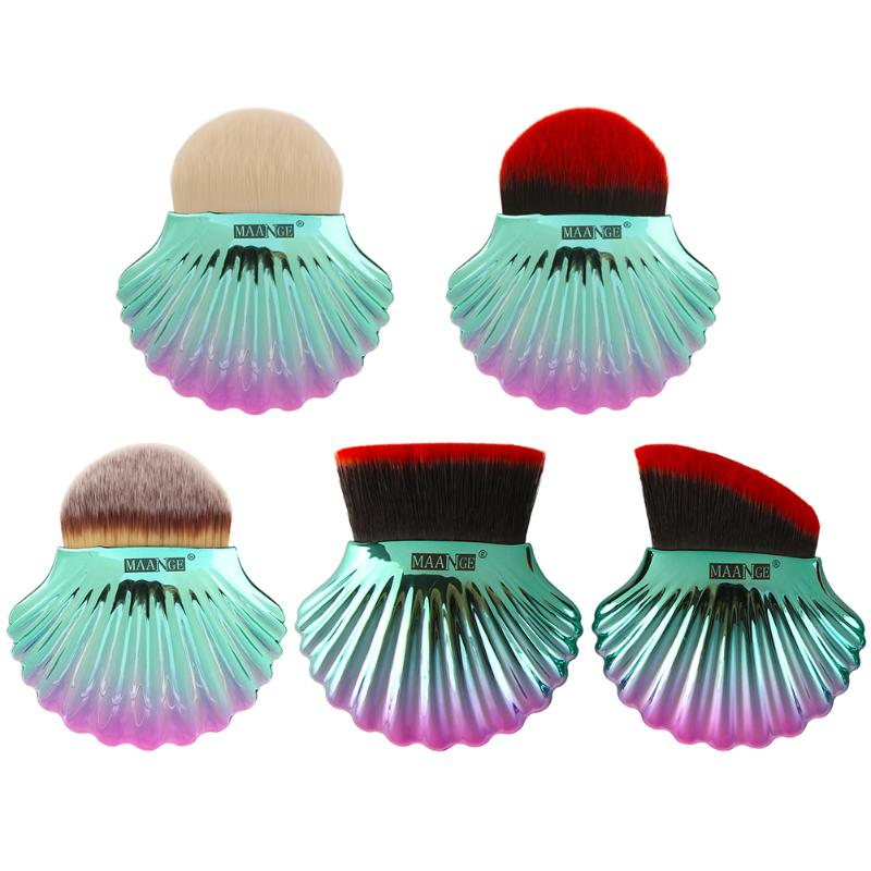 1Pcs New Shell Style Power Foundation Makeup Brush Tool Cosmetic Conch Pro Blush Contour Face Make Up Brushes Maquiagem new design stamp seal shape face makeup brush foundation powder blush contour brush cosmetic facial brush cosmetic makeup tool