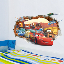 3d anime wall stickers for kids rooms removable cute cartoon nursery wall decals children room wall poster home decor wallpaper