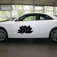 58 cm x 29 cm 2 x Namaste Lotus Flower hindú Yoga ( un para cada lado ) etiqueta engomada del coche para Truck ventana de la puerta lado del vinilo 8 colores