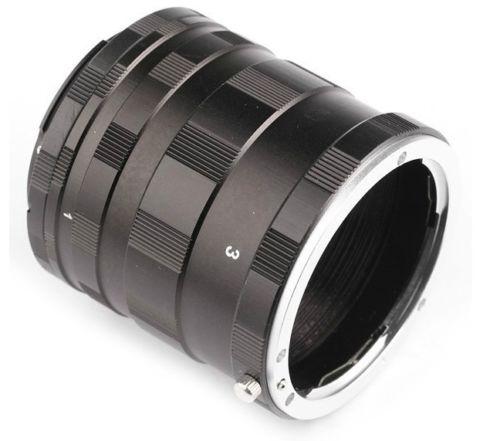 JINTU Metal Macro adaptador de extensión tubo anillo para Nikon F MONTAJE DE D3200 D3300 D3400 D5200 D5300 D5500 D90 D7500 D200 D300 D600
