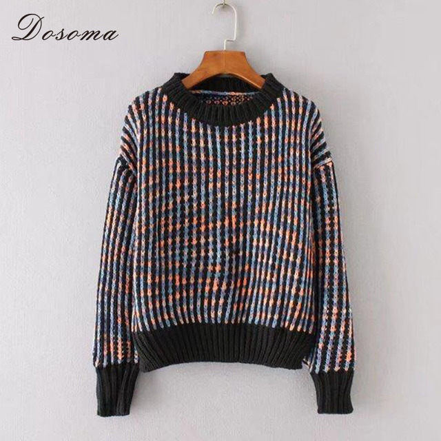 Aliexpress.com : Buy Short Colorful Thread Sweater Women Winter ...