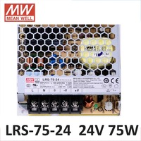 Meanwell LRS 75 Switching Power Supply 5V 12V 24V 36V 48V 75W Original MW Taiwan Brand LRS 75 24