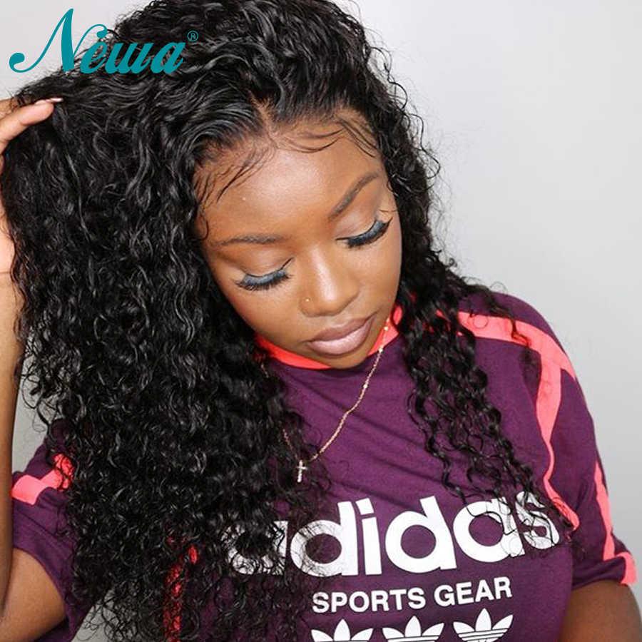 Предварительно сорванные 360 кружевных фронтальных париков для черных женщин волна воды кружева передние человеческие волосы парики с волосами младенца NYUWA бразильский парик Remy