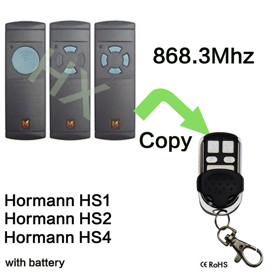 868Mhz Electric Garage Door Remote Control For Hormann HS1 HS2 HS3 Clone replacement remote for hormann hsm2 868 hsm4 868mhz