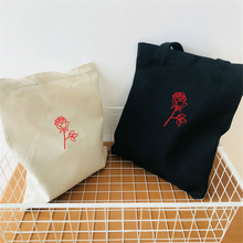 d3074955d Lona Subiu Ombro Saco Vermelho Sacos de Compra de Dobramento de Alta  Qualidade Da Cópia Da Flor Branca Mulher Harajuku bolsa de .
