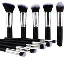 10 шт. Набор макияжа для кистей Набор инструментов для наращивания волос для глаз Eyeshadow Blush Professional Cosmetic Kit для женщин
