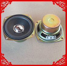 2pcs/pack  3 inch 4 ohm 5W Full-range square speaker  foam edge Antimagnetic louderspeaker small stereo TV speakers
