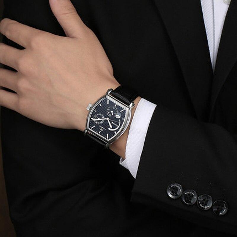 Роскошные Брендовые мужские стальные часы, мужские автоматические механические часы, многофункциональные военные спортивные часы, мужские часы - 4